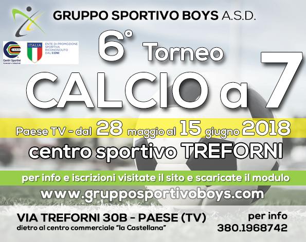 6° Torneo di calcio a 7